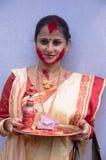 Vermilion sztuka (Sindur khela) Fotografia Royalty Free