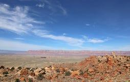 Vermillion скалы на горизонте Стоковое Изображение RF