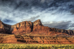 Vermillion Cliffs. Along side the highway 89a in the Arizona desert royalty free stock photo