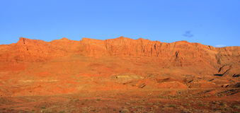 Vermillion cliffs. Panoramic view of bright orange vermillion cliffs Royalty Free Stock Photos