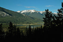 Vermillion jeziora, Banff Alberta Kanada. Fotografia Royalty Free