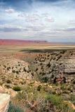vermillion klippor USA Arkivfoton