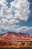 vermillion klippor USA Arkivbilder