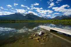 Vermillion Lake in Banff National Park Stock Photography