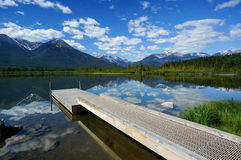 Vermillion Lake in Banff National Park Royalty Free Stock Photo