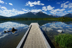 Vermillion Lake in Banff National Park Stock Image