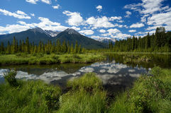 Vermillion Lake in Banff National Park Stock Photo
