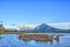 Vermillion Lake and Randle Mountain Stock Images