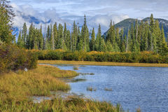 Vermillion Lake and Randle Mountain Royalty Free Stock Image