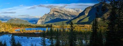 Vermillion Lake and Randle Mountain Royalty Free Stock Photo