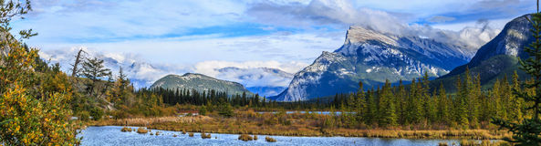 Vermillion Lake and Randle Mountain Royalty Free Stock Photography