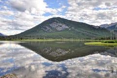 Vermillion Lake reflection - Banff, Alberta Royalty Free Stock Images