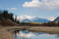 vermillion lakes Arkivfoto