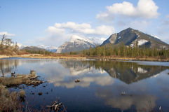 Vermillion Lakes Royalty Free Stock Photos