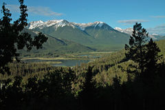 Vermillion Lakes, Banff Alberta Canada. Royalty Free Stock Photography
