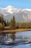 Vermillion Lakes in Banff Royalty Free Stock Image