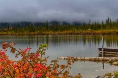 Vermillion Lakes, Banff National Park, Alberta, Canada Royalty Free Stock Photos