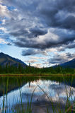 Vermillion Lakes at Dusk Stock Photos
