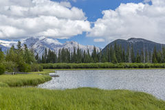 Vermillion Lakes and Rocky Mountains - Banff National Park, Cana Royalty Free Stock Photography