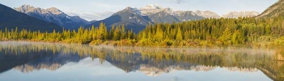 Vermillion Lakes Sunny Shore Royalty Free Stock Photo