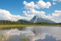 Vermillion Lakes Stock Photos