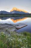 Vermillion Meer in Banff Royalty-vrije Stock Afbeeldingen