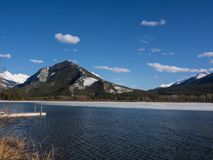 Vermillion sjöar i den Banff nationalparken, Alberta, Kanada Arkivbild