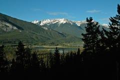 Vermillion sjöar, Banff Alberta Canada. Royaltyfri Fotografi