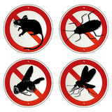 Vermin bugs. Sign, unappetizing vermin Royalty Free Stock Photography