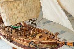 Verminderd varend schipmodel stock foto's