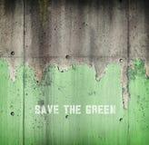 Verminderndes Grün. Ökologisches Konzeptbild Stockfotografie