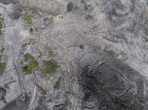 Verminderte Landschaftsalte Kohlengrube im Süden von Polen Zerstörtes L Lizenzfreie Stockfotos
