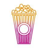 Verminderte Linie köstliches Popcornsnack-food im Kasten stock abbildung