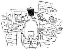 Vermittler nach ausfallen Betrachtung Lizenzfreie Stockbilder