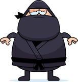 Vermoeid Beeldverhaal Ninja stock illustratie