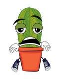 Vermoeid cactusbeeldverhaal vector illustratie