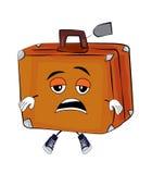 Vermoeid Kofferbeeldverhaal stock illustratie