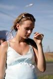 Vermoeid zwanger meisje Stock Foto