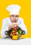 Vermoeide chef-kok Stock Foto's