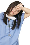 Vermoeide gezondheidszorgprofessiona Stock Foto