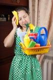 Vermoeide Huisvrouw Stock Foto's