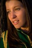 Vermoeide jonge cheerleader Stock Afbeeldingen