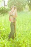 Vermoeide landbouwer Royalty-vrije Stock Fotografie