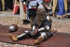 Vermoeide ridder Royalty-vrije Stock Afbeelding