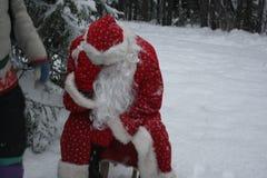 Vermoeide Santa Claus royalty-vrije stock afbeeldingen