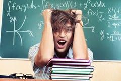 Vermoeide student Stock Foto