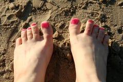Vermoeide voeten Royalty-vrije Stock Afbeelding