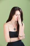 Vermoeide Vrouw Stock Foto's