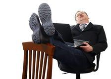 Vermoeide zakenman Stock Fotografie