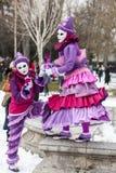 Vermomd Paar - Annecy Venetiaans Carnaval 2013 Royalty-vrije Stock Afbeeldingen